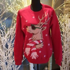 Ugly holiday Christmas sweatshirt top
